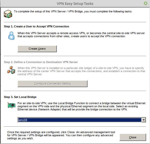 SoftEther VPN Setup with Dnsmasq and port forwarding | What